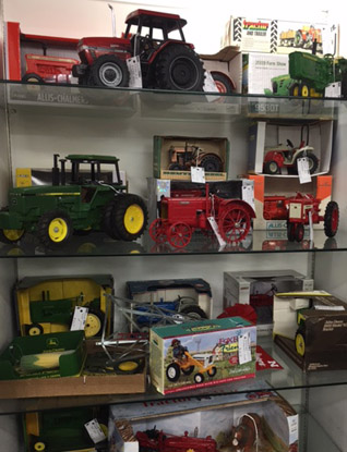 Old Toy Tractor Display